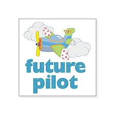 """future pilot Square Sticker 3"""" x 3"""""""