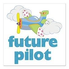 "future pilot Square Car Magnet 3"" x 3"""