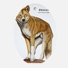 Dingo Oval Ornament