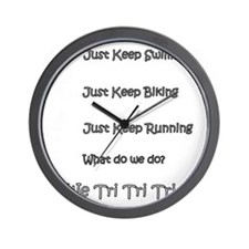 Just_Keep_Triing_wht Wall Clock