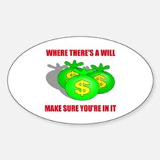 INHERIT MONEY Oval Decal