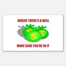 INHERIT MONEY Rectangle Decal