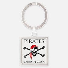 PiratesCool2 Square Keychain