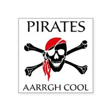 "PiratesCool2 Square Sticker 3"" x 3"""