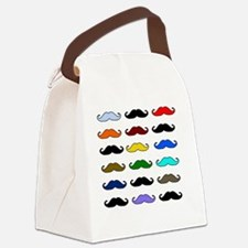 colorfulmustacheshirt.gif Canvas Lunch Bag
