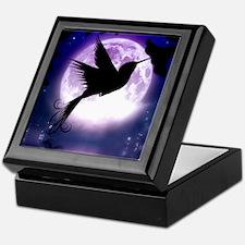 Moonlit Hummingbird Keepsake Box