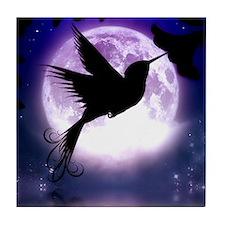 Moonlit Hummingbird Tile Coaster