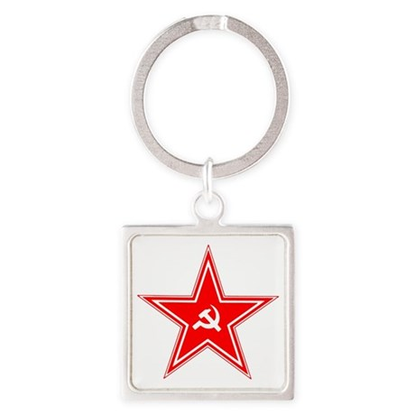 hammer and sickle Square Keychain