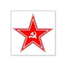 "hammer and sickle Square Sticker 3"" x 3"""
