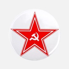 """hammer and sickle 3.5"""" Button"""