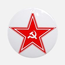hammer and sickle Round Ornament