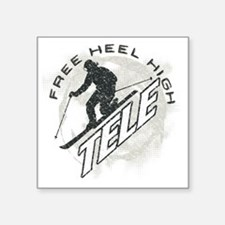 "free heel high revise Square Sticker 3"" x 3"""
