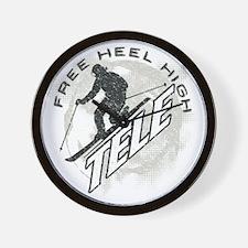 free heel high revise Wall Clock