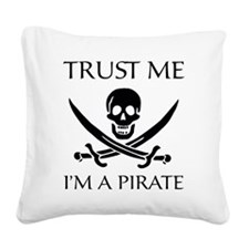 PirateTrust4 Square Canvas Pillow