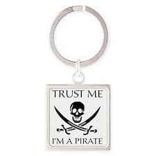 PirateTrust4 Square Keychain