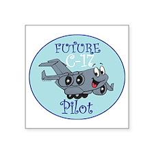 "Mil 2A C17 Pilot M Square Sticker 3"" x 3"""