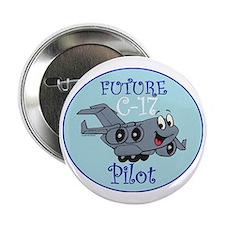 """Mil 2A C17 Pilot M 2.25"""" Button"""