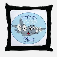 Mil 3 C130 baby pilot M  Throw Pillow