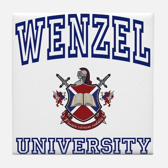 WENZEL University Tile Coaster