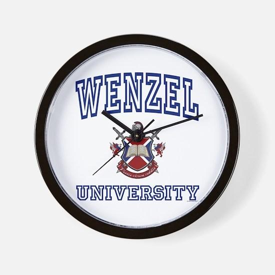 WENZEL University Wall Clock