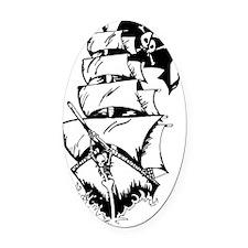 PirateShip1 Oval Car Magnet
