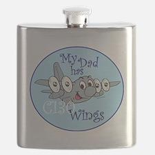Mil 5 My Dad C130 wings copy Flask