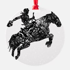 cowboy unicorn tee wht Ornament