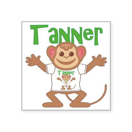 "tanner-b-monkey Square Sticker 3"" x 3"""