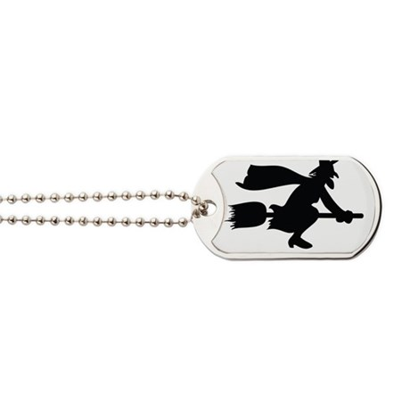 how i roll witch1 Dog Tags