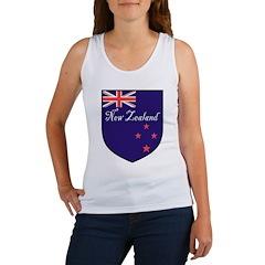 New Zealand Flag Crest Shield Women's Tank Top