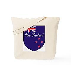 New Zealand Flag Crest Shield Tote Bag