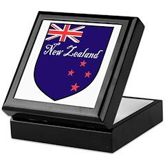 New Zealand Flag Crest Shield Keepsake Box