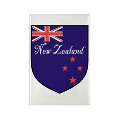 New Zealand Flag Crest Shield Rectangle Magnet (10