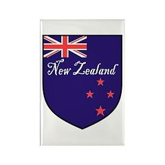 New Zealand Flag Crest Shield Rectangle Magnet
