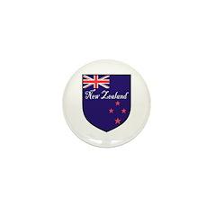 New Zealand Flag Crest Shield Mini Button (100 pac