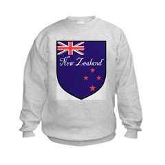 New Zealand Flag Crest Shield Sweatshirt
