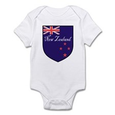 New Zealand Flag Crest Shield Infant Bodysuit