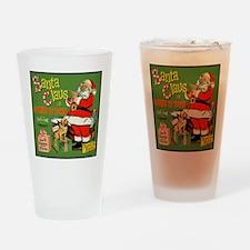 Santa_Record Drinking Glass