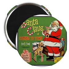 Santa_Record Magnet