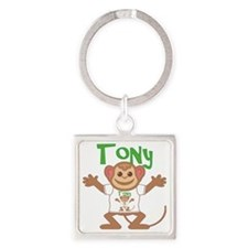 tony-b-monkey Square Keychain