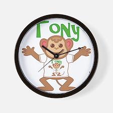 tony-b-monkey Wall Clock