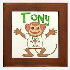 tony-b-monkey Framed Tile
