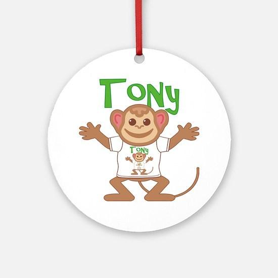 tony-b-monkey Round Ornament