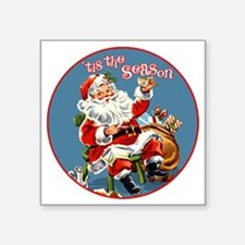 "TisTheSeason Square Sticker 3"" x 3"""