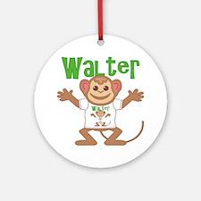 walter-b-monkey Round Ornament