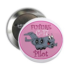 "Mil 2 C17 baby pilot F 2.25"" Button"