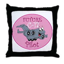 Mil 2 C17 baby pilot F Throw Pillow