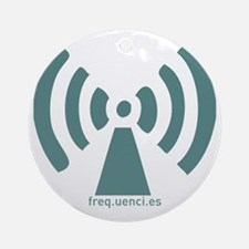 Frequencies (turquoise) Round Ornament