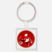 ComeNGetIt Square Keychain