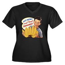 Dont Forget  Women's Plus Size Dark V-Neck T-Shirt
